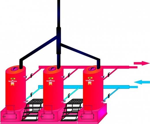 Схема для Модуль котла